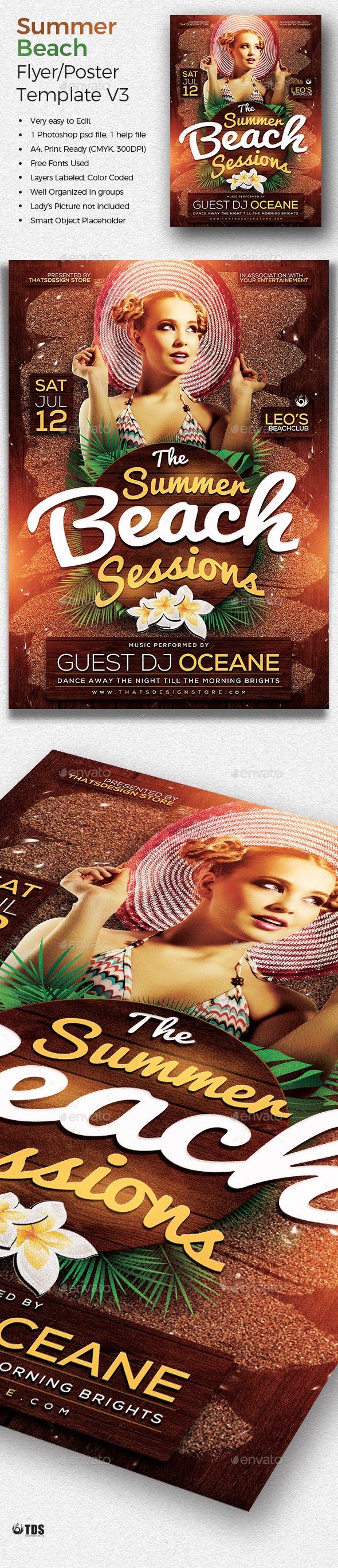 summer beach flyer template psd awesome summer party flyers