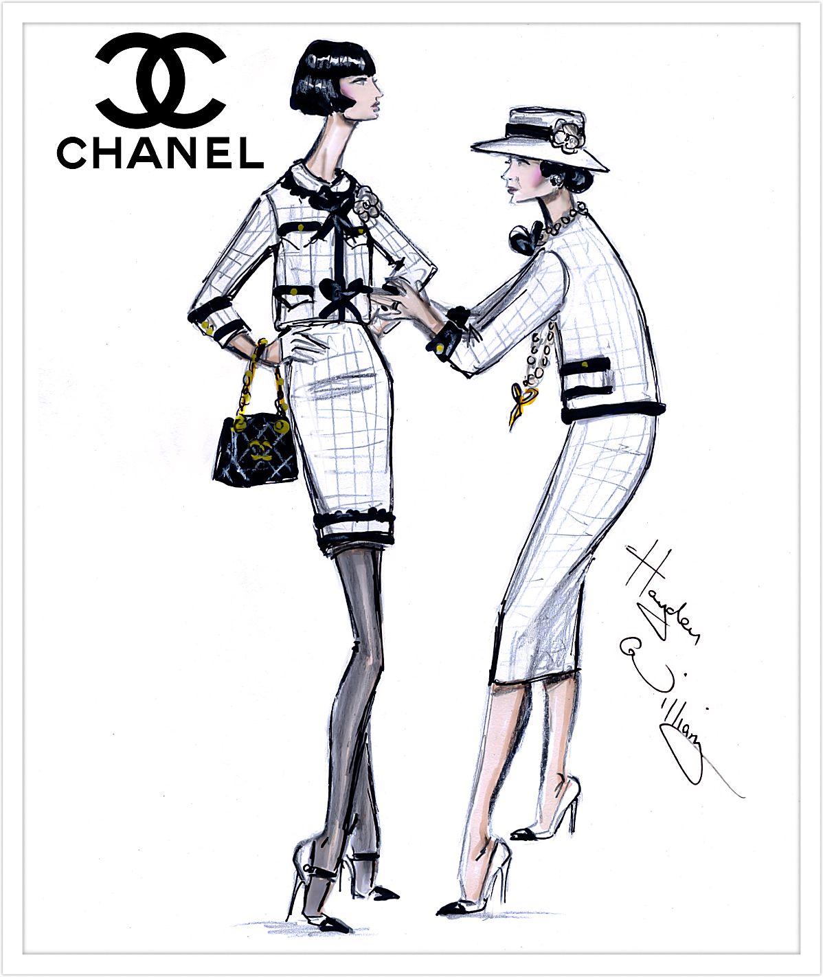 Chanel coco fashion sketch fotos