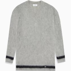 Photo of Calvin Klein Pullover aus gebürsteter Wolle mit V-Ausschnitt S Calvin KleinCalvin Klein