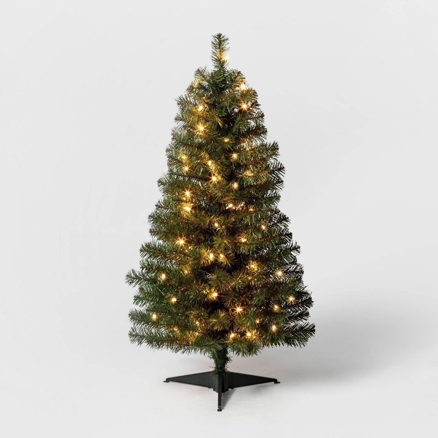 3ft PreLit Slim Alberta Spruce Clear Lights Artificial