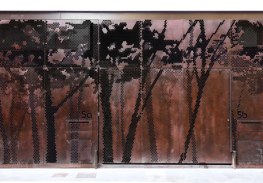 Steel fassade fachada acero corten banyoles cio - Acero corten fachadas ...
