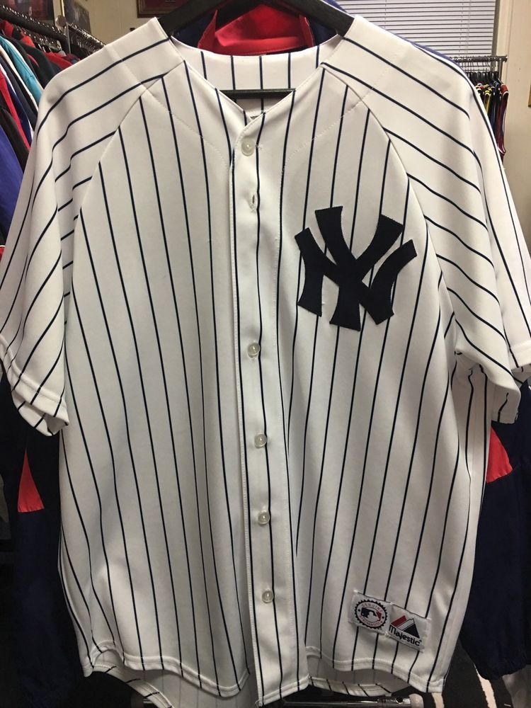 Majestic Mlb New York Yankees Randy Johnson 41 Baseball Jersey Ebay Vintage Clothes 90s Vintage Outfits Clothes