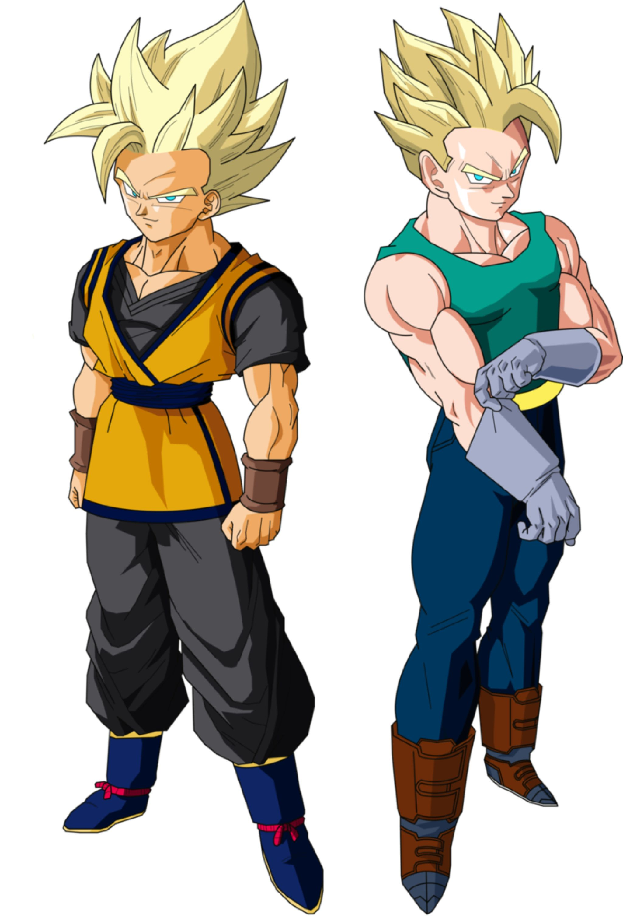 Goken And Nach Super Saiyans V1 By Owc478 On At Deviantart Dragon