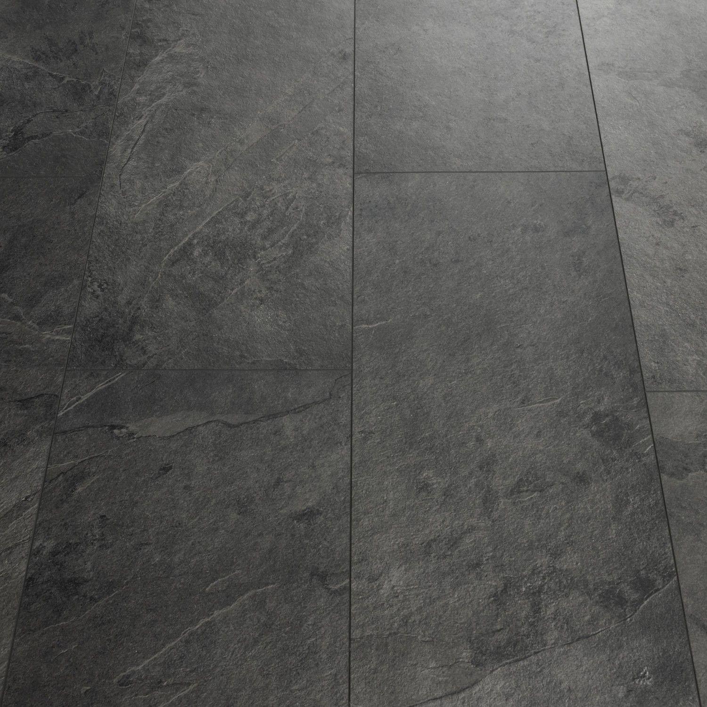 Quick Step Livyn Tile Black Slate Luxury Vinyl Tile Luxury Vinyl Tile Vinyl Flooring Kitchen Vinyl Flooring Bathroom