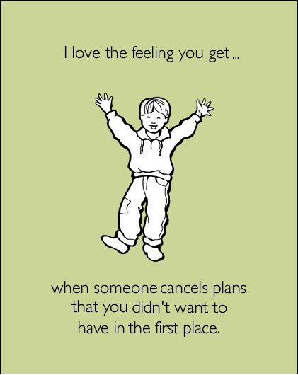 Oh this is every plan I ever have. I'm so lazy...this is too true!