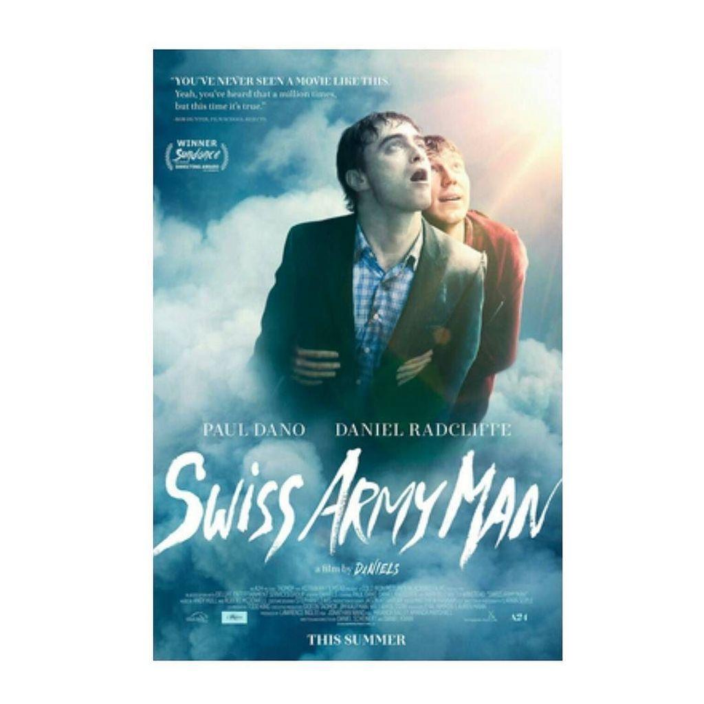 Swiss army Man.  Dirigida por #DanKwan y #DanielScheinert #SwissArmyMan #danielradcliffe #PaulDano #Cine #Poster #p https://t.co/nL8O2YOS9G