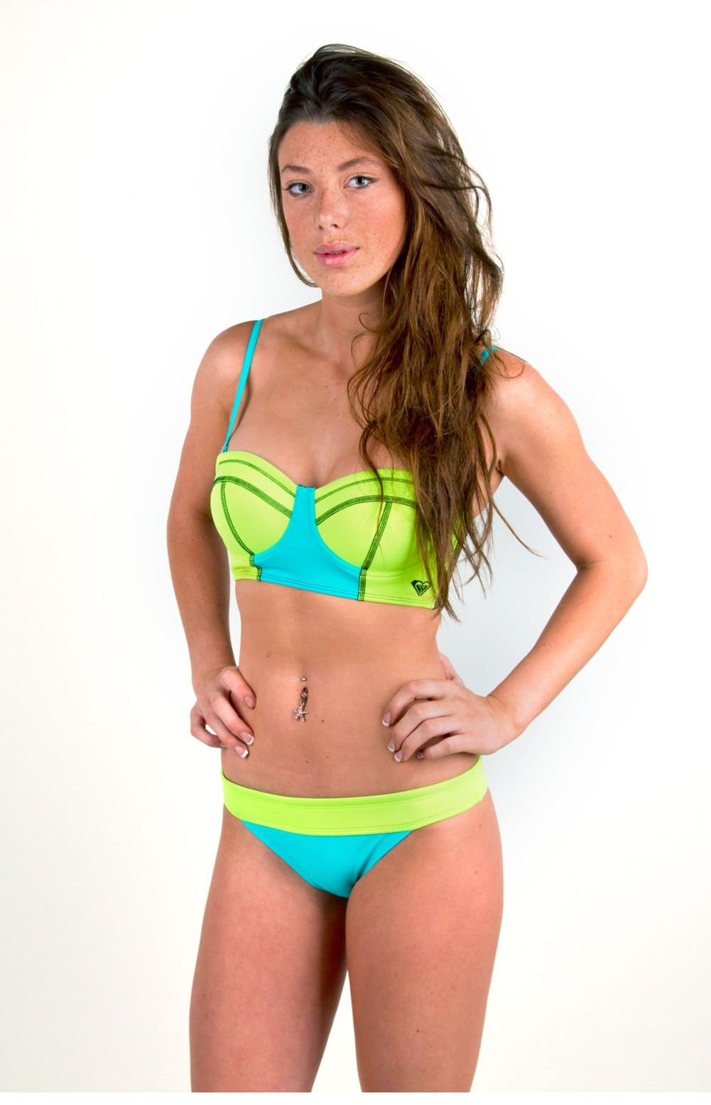 b08e4e58d7 Roxy Neon Tide Bustia Bandeau Bikini Top