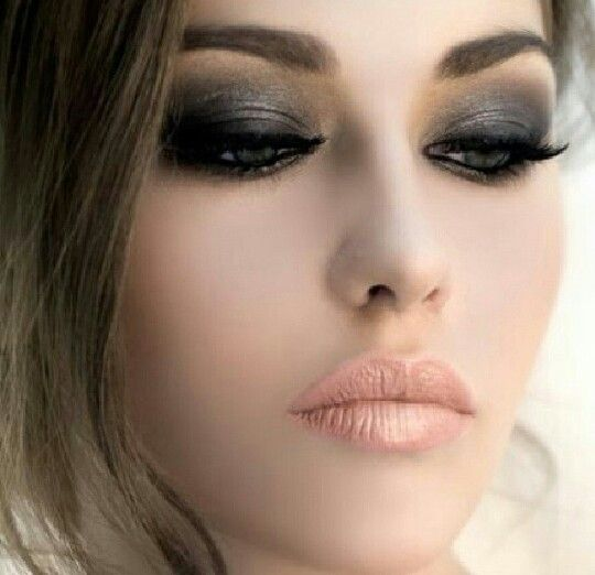 I love love a smokey eye and a very pale lip for your wedding makeup...understated sexy