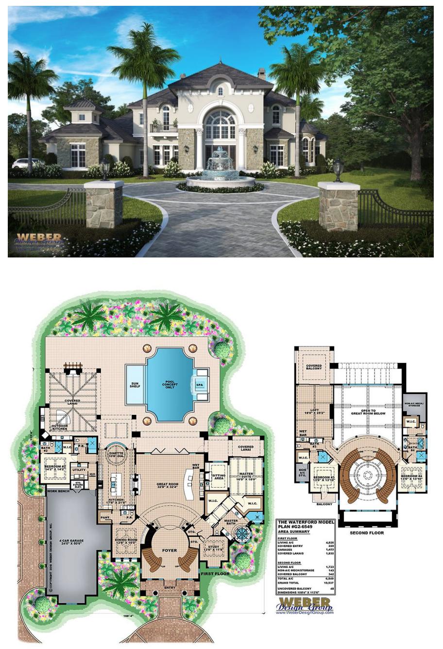 Waterford House Plan Weber Design Group Naples Fl House Plans Mansion Dream House Plans Home Design Floor Plans