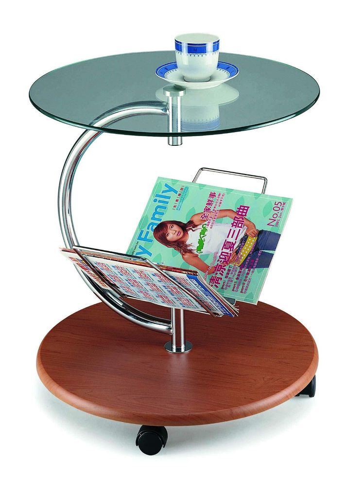 New Spec Cota Modern End Table with Magazine Holder