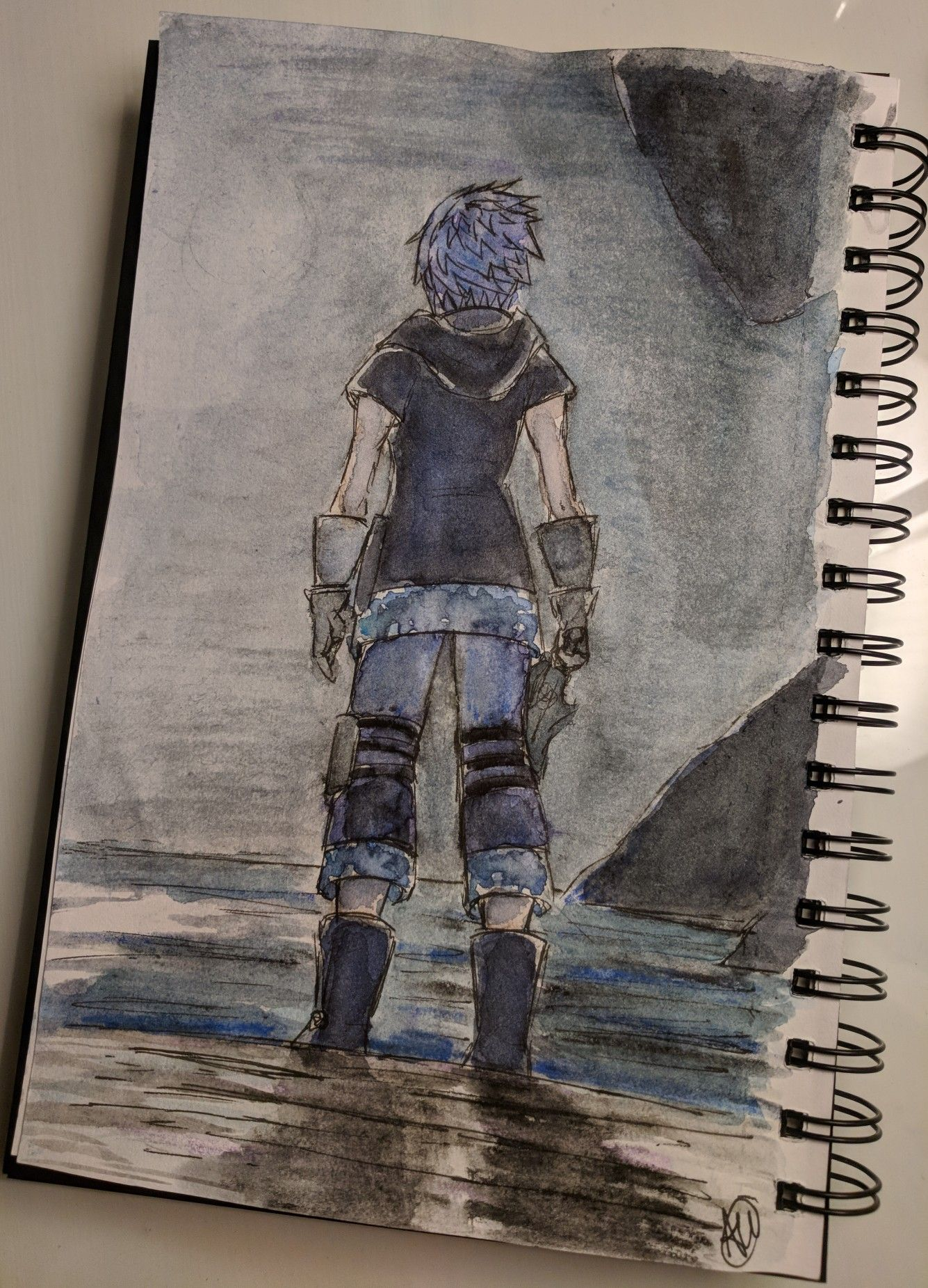 Kingdom Hearts 3 Riku Watercolor By Ally Wainwright This Persons