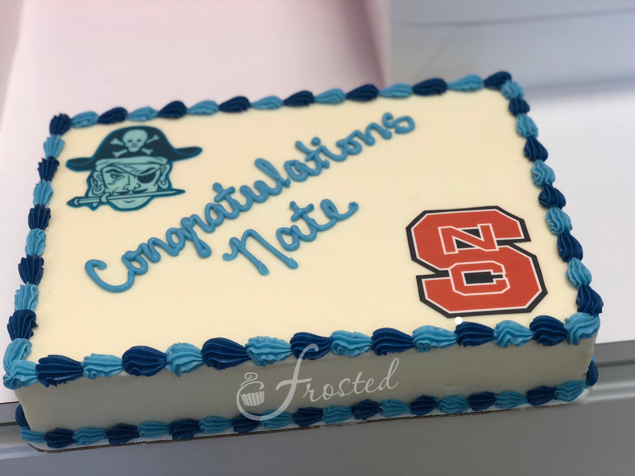 High School Graduation Cake Featuring North Carolina State