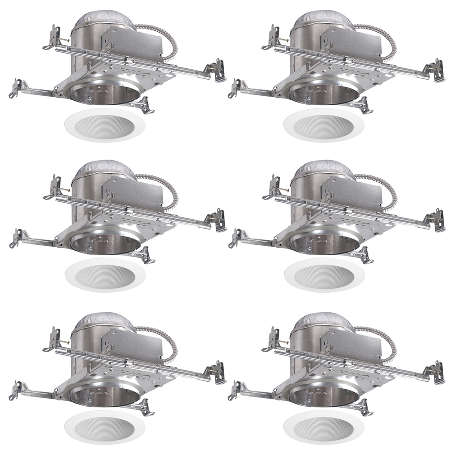 Halo White 6 In New Construction Recessed Ceiling Lighting Kit At