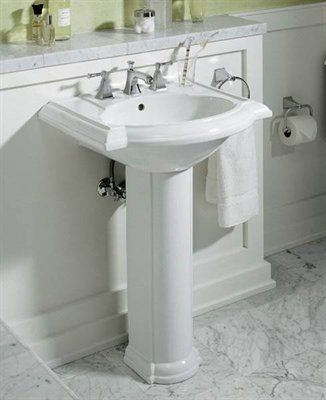 Great Buy The Kohler Almond Direct. Shop For The Kohler Almond Devonshire Pedestal  Bathroom Sink With 3 Pre Drilled Faucet Holes And Overflow Assembly And  Save.