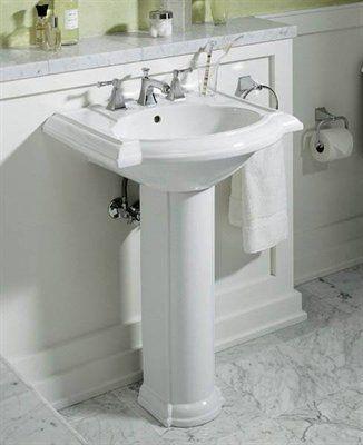 Kohler Co 2286 Devonshire Pedestal Sink Small Bathroom Sinks Traditional Bathroom Small Bathroom