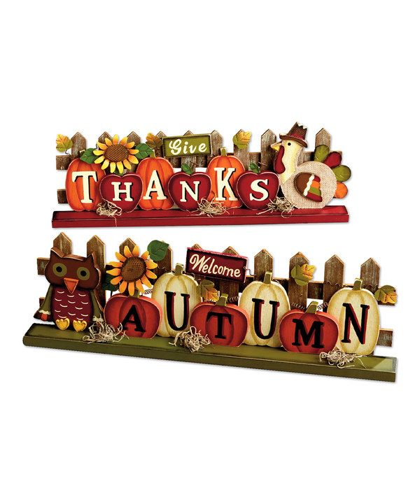 Look at this 'Give Thanks' & 'Welcome Autumn' Block Set on #zulily today!