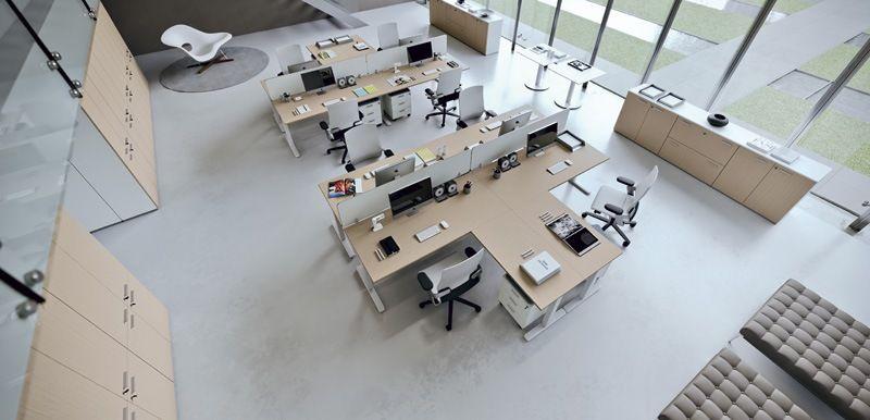 Office furniture compositions Workstation DV803-NOBU 9 | Della ...