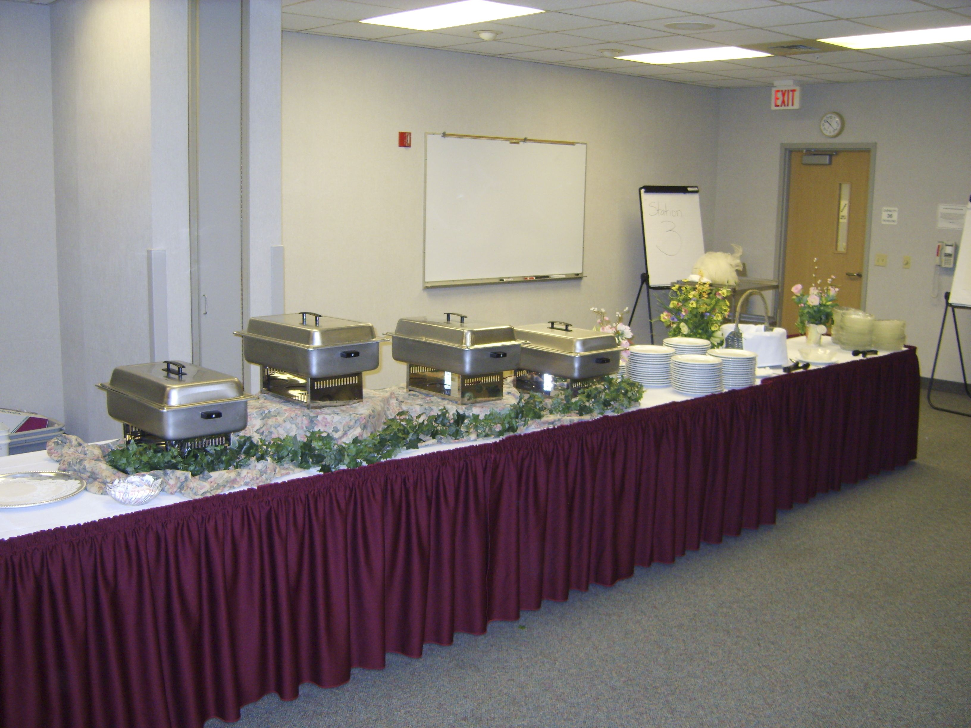 On-Location buffet line set up for corporate catering event ...