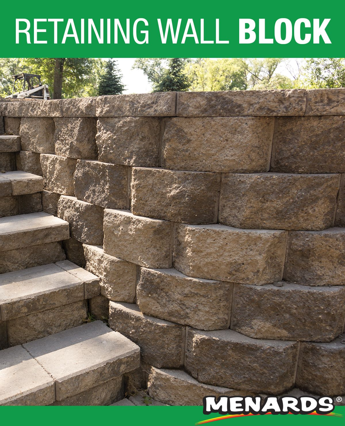 Create A Durable Attractive Retaining Wall With The Denver Wall Block It Features A Rear Lip Syste Retaining Wall Landscape Materials Landscaping Inspiration