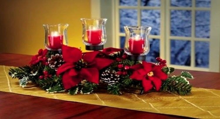 9 1 X2f 4 Quot H By 20 Quot L By 9 Quot W Ebay Christmas Centerpieces Christmas Table Decorations Christmas Candle