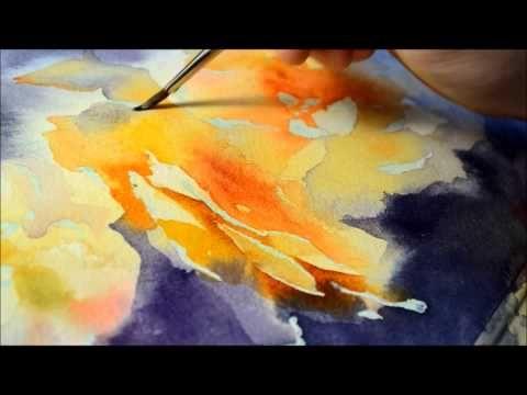 watercolor painting roses aquarell videos pinterest. Black Bedroom Furniture Sets. Home Design Ideas