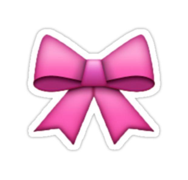 Pink Emoji Bow By Anna Wilson Rose Emoji Emoji Bows Pink Bow