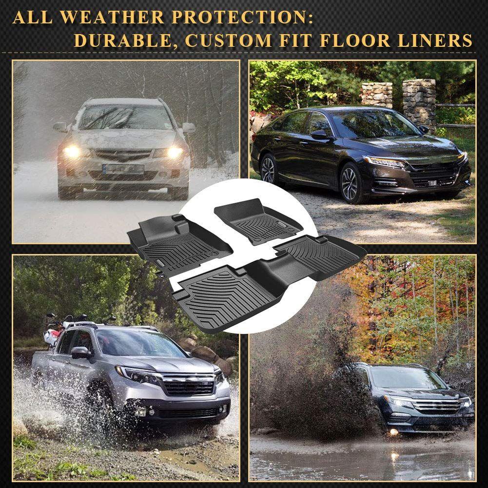 Yitamotor Floor Mats Compatible For 2013 2017 Honda Accord Sedans