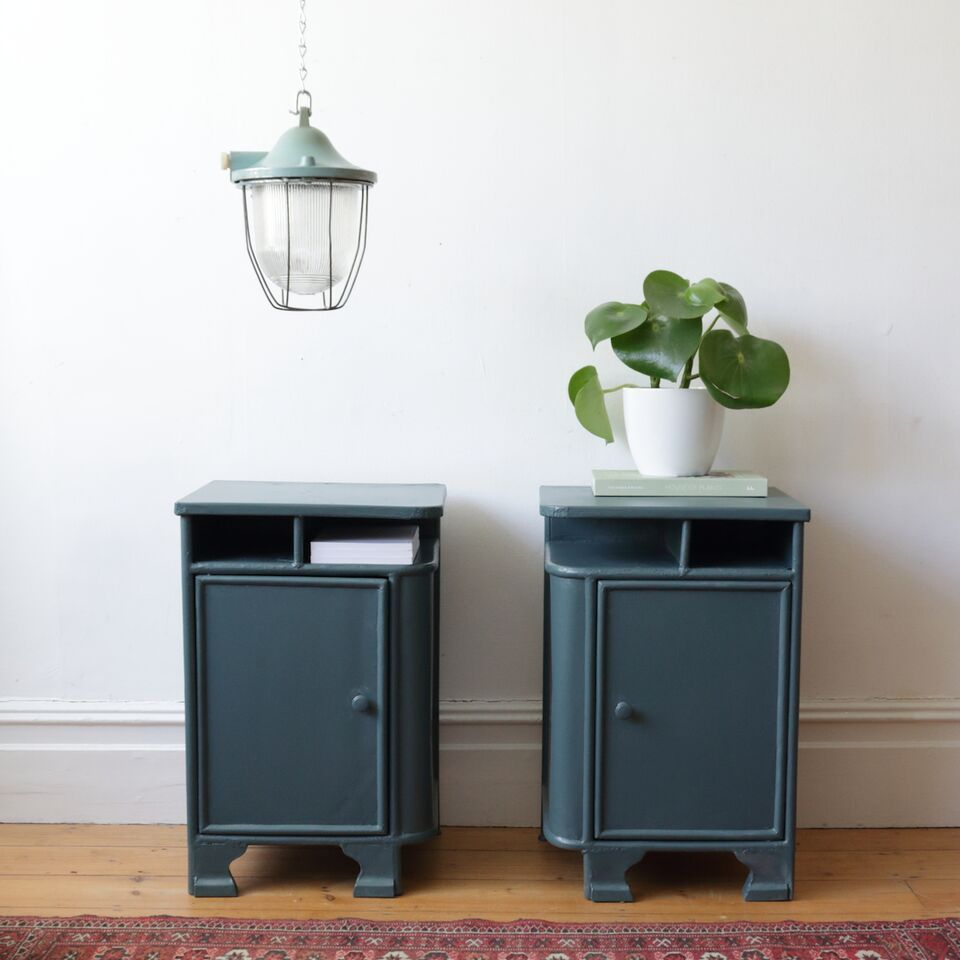Best Pair Of Industrial Mid Century Metal Bedside Cabinets 400 x 300