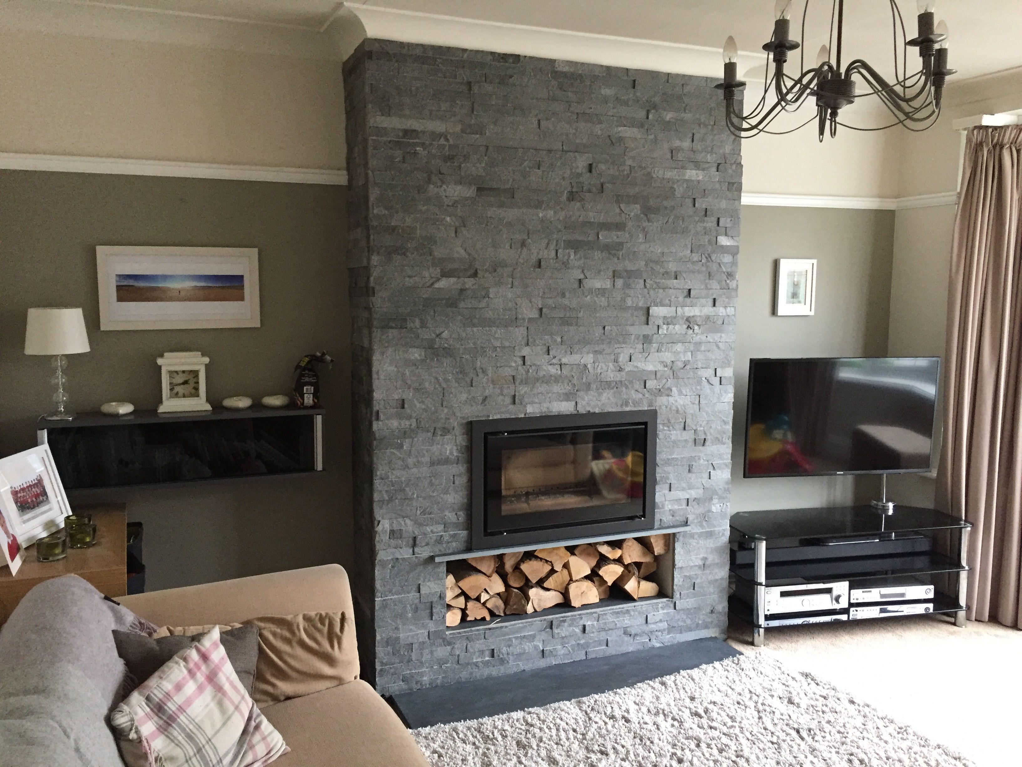 Stovax Riva Studio 1 Inbuilt Wood Burning Stove With Grey
