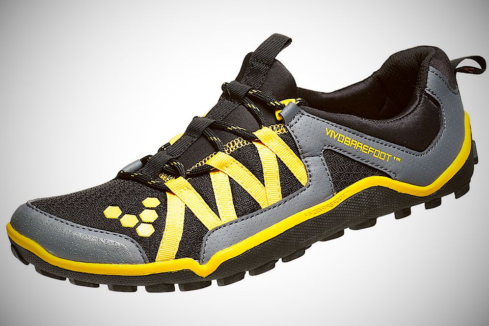 Very light and breathable barefoot running shoe with puncture resistant sole and great feel for the ground.