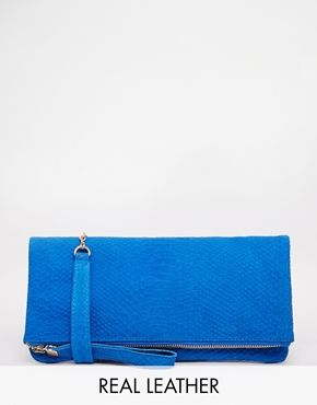 Oasis Leather Foldover Clutch