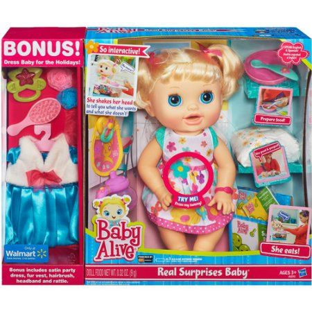 Baby Alive Real Surprises Baby Doll Bonus Pack Surprise Baby Baby Alive Baby Dolls