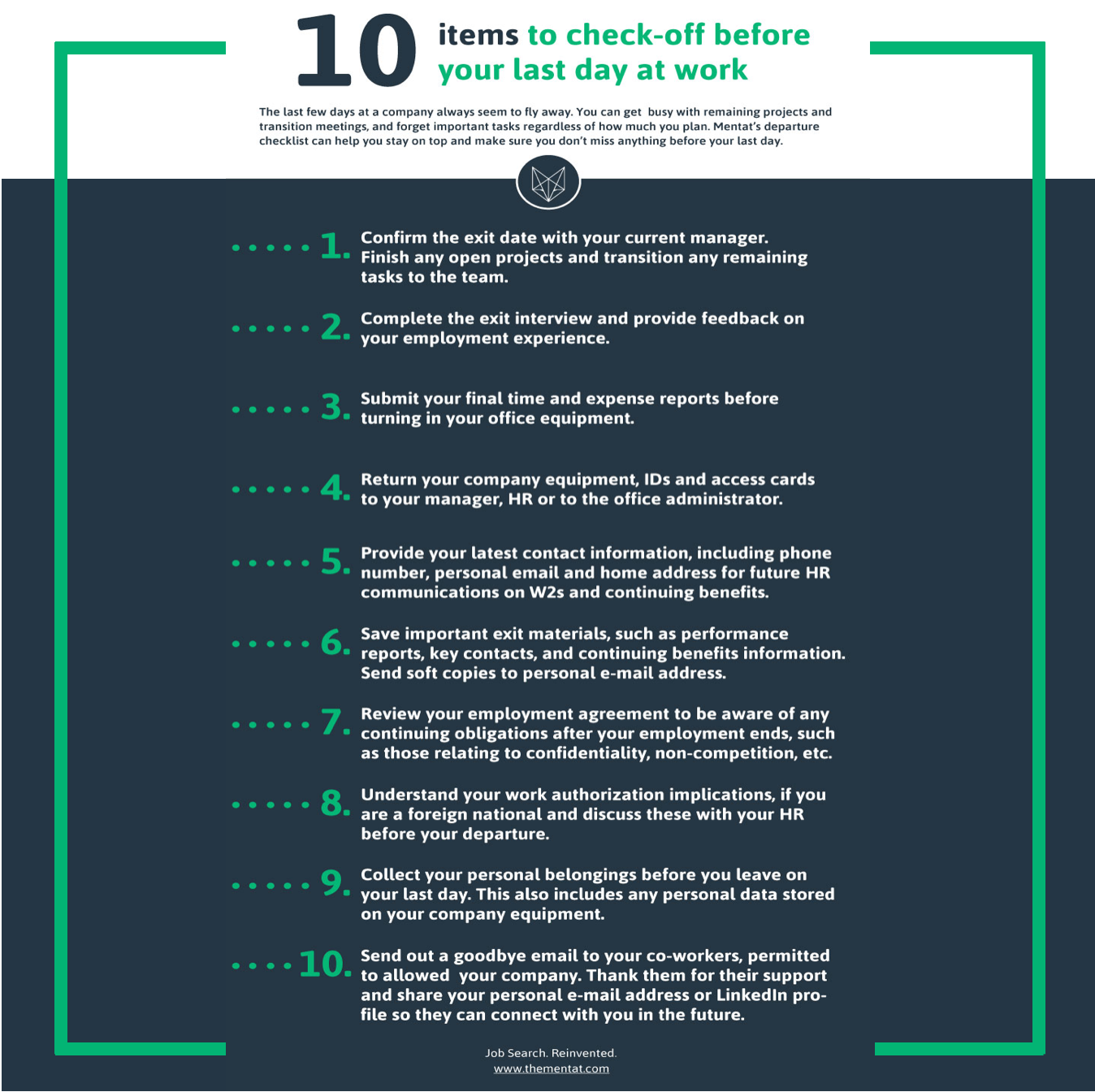 Employee Exit Checklist 10 Items To Check Off Before Your Last Day At Work Leaving An Old Job Your Last Few Days Last Day At Work Leaving A Job Last Day