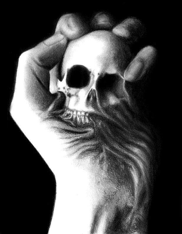 Skull by ~Kiwi-Spaz Traditional Art / Drawings / Macabre ...