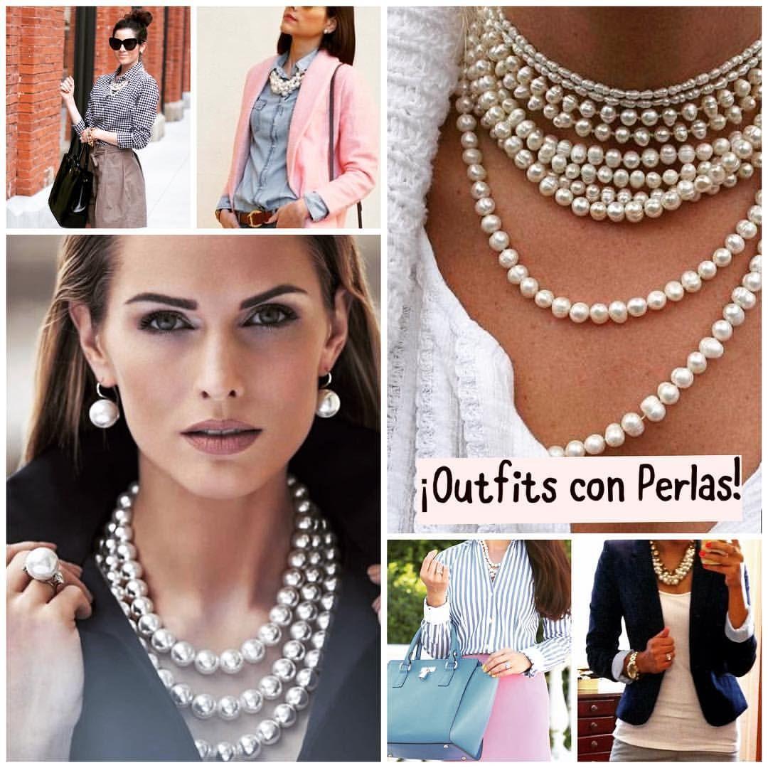 Hola A Todos Cómo Están Pasando Su Día Yo Aquí Buscando Ideas De Outfits Con Collares De Perlas Para Nuestras Amigas Que Collares De Perlas Perlas Collares