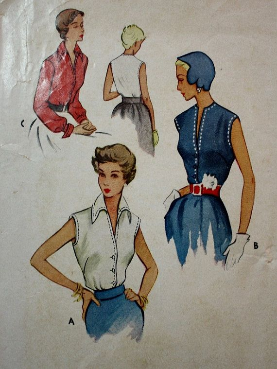 1940s Blouse in Three Versions McCall 8053 by BluetreeSewingStudio
