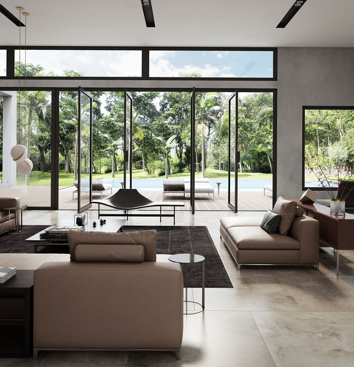 Villa In Sicily B B Italia On Behance Modern Interior Design