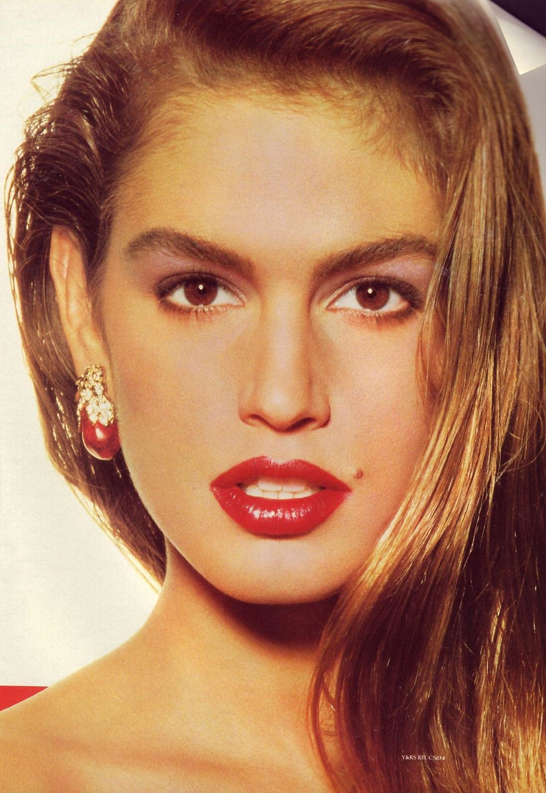 Cindy Crawford, late 80s The Art Of Makeup Pinterest