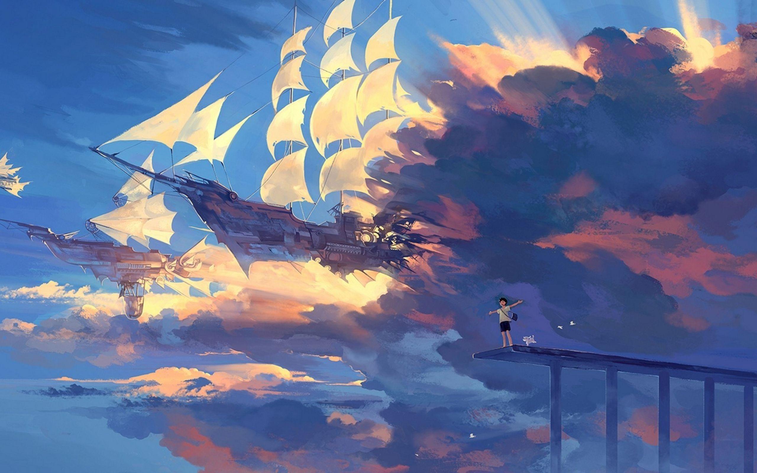 Anime Sky Wallpaper for Desktop 2560x1600 px 1.00 MB
