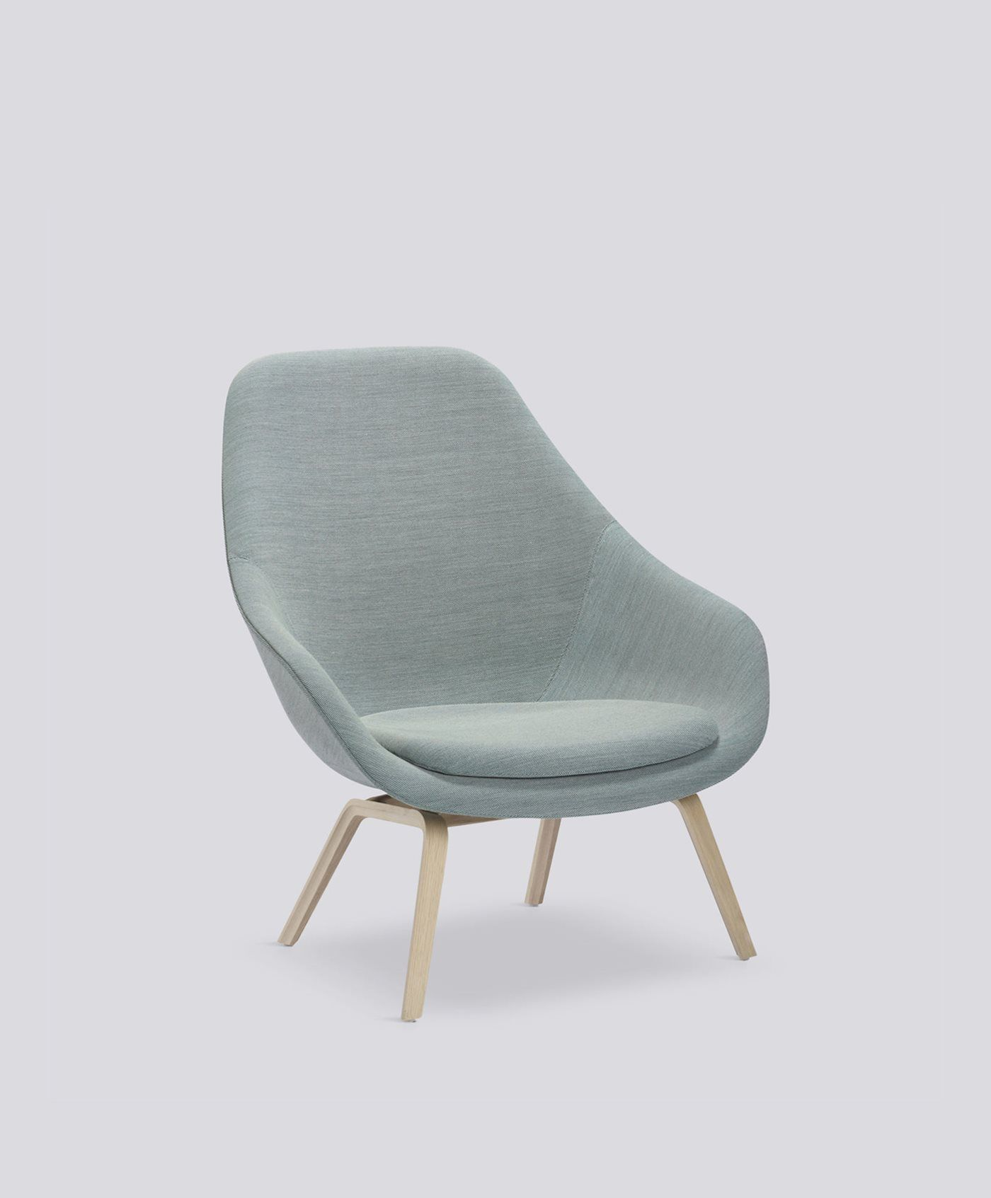 Hay AAL 93 Lounge Chair with Seat Cushion – Oak Matt Lacquer