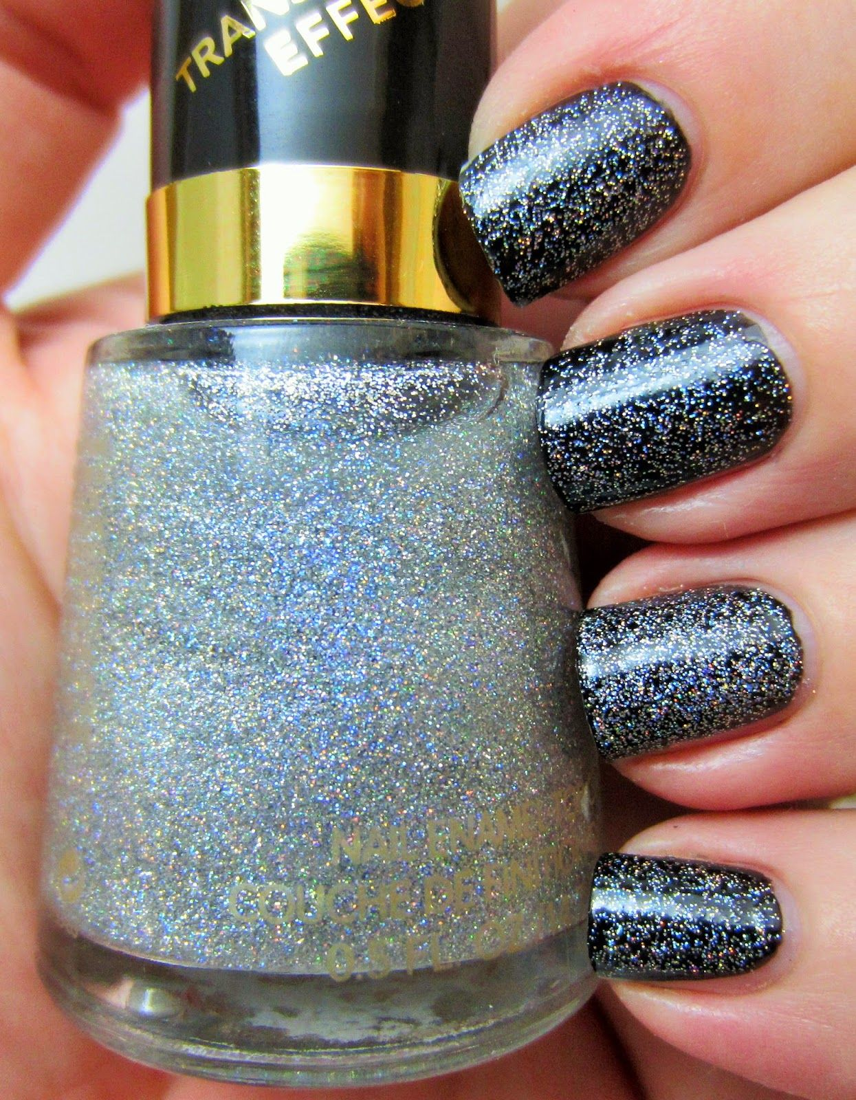 Revlon - Holographic Pearls (over Black Swan) | Nails ...