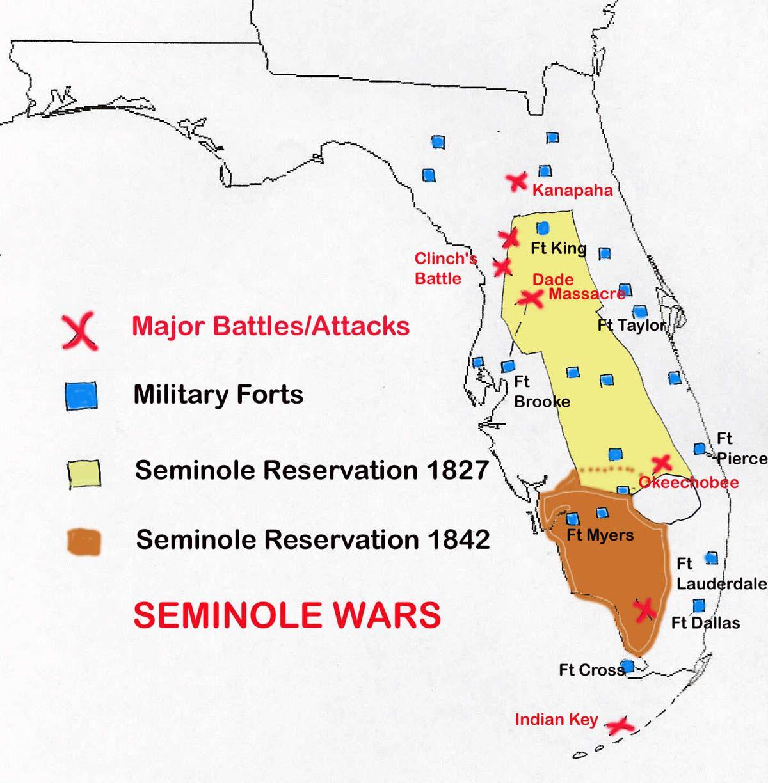 map of seminole wars in florida family tree pinterest