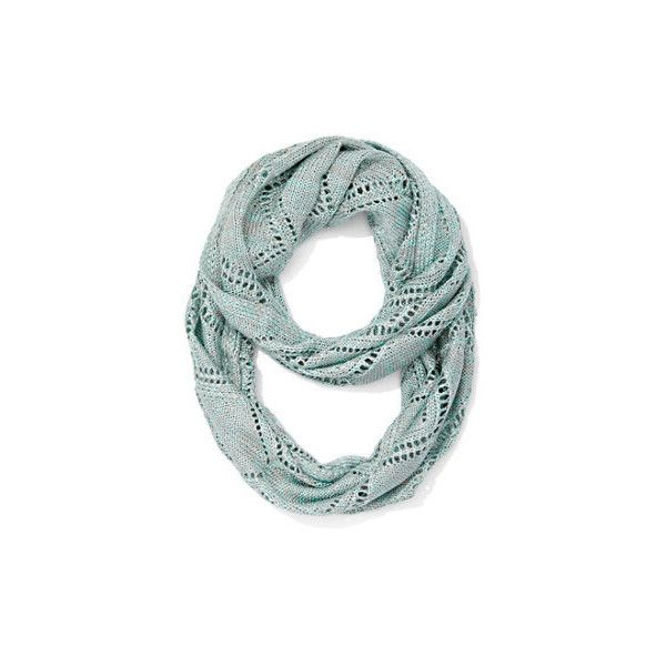 Crochet Knit Infinity Scarf Delicate pointelle-knit detailing ...