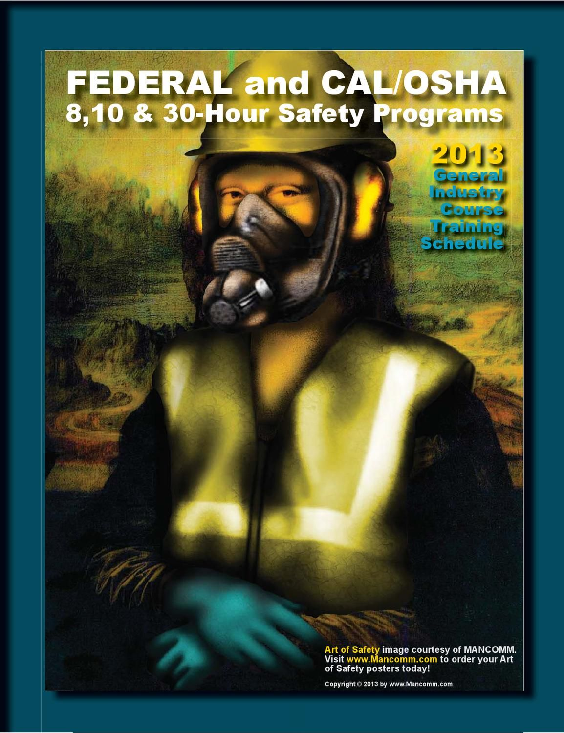 American Safety Training Solutions 2013 Course Schedule