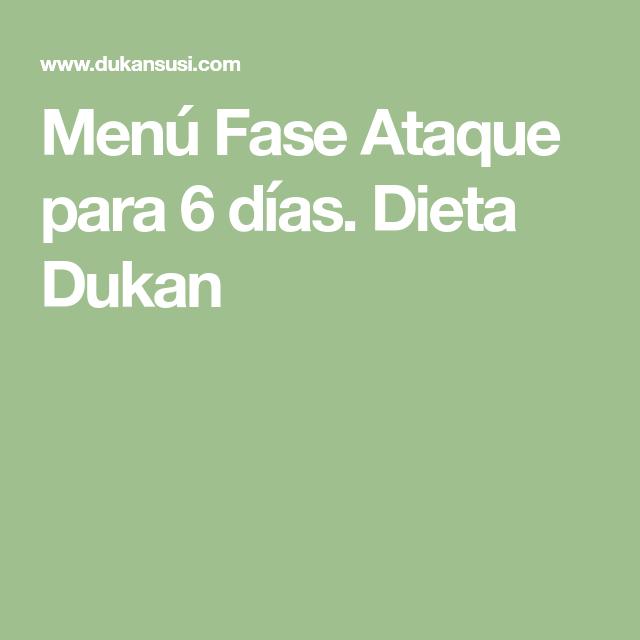 Fase ataque dukan pdf