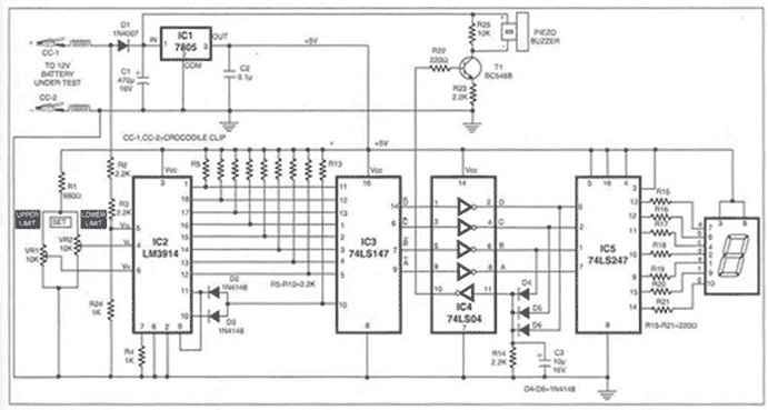 charge monitor for 12v lead acid battery