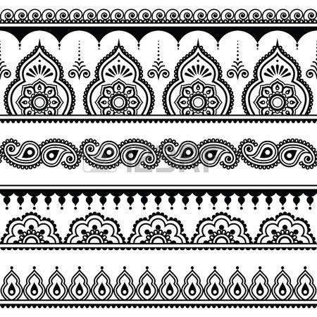 motif henn mehndi indienne tatouage au henn seamless des l ments de coupe cheveux. Black Bedroom Furniture Sets. Home Design Ideas