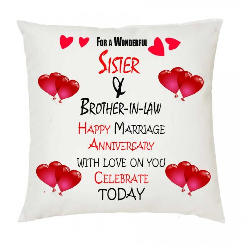 Juvixbuy For A Wonderful Sister Brother In Law Happy Marriage Anniversary 201 Printed White C Marriage Anniversary Happy Marriage Happy Marriage Anniversary