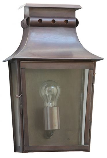 French Vintage Half Lantern Morzine MM by Atelier Lumin'Art