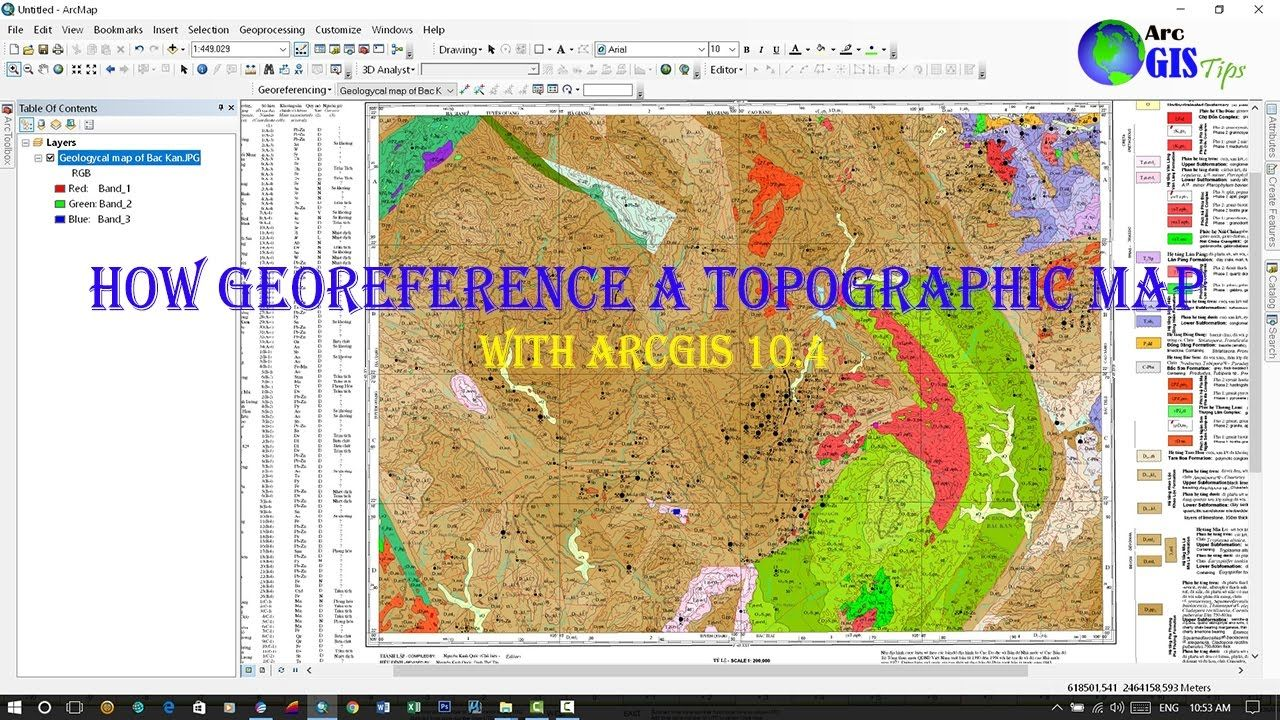 How to Georeference a Topographic Map in ArcGIS